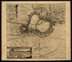 CC_1116_A – «Plan de la ville et cittadelle d'Arras et du bombardement fait par les troupes des alliez sous le comandement de Mylord Albemarle le 2 et 3 de Mars 1712 pour bruler les magasins des François». A la Haye : Chez Anna Beck, avec privilege,, [ca 1712]. Gravura ; matriz: 50 x54,5 cm, em folha de 54x62,5 cm. Cota BNP C.C. 1116 A. Disponível em: http://purl.pt/3659