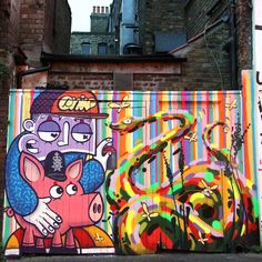 """Chivitz and @milotchais - Brick Lane, London / England"""