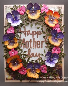Oval Window Pull Card - Mother's Day - 1st April 2016