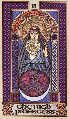 Celtic Tarot - The High Priestess. Never really clicked with this deck's very cold, stylized artwork.
