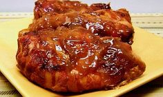 crock pot bacon wrapped apple chicken