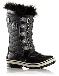 Sorel Kids Youth Tofino II Snow Boot Black/Quarry Size 6 M US Big Kid - Brought to you by Avarsha.com