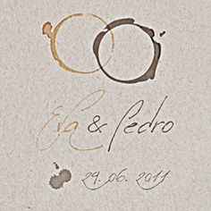 Estudio Visavis made the story of a couple coffee lovers. Wedding packaging and photography inspired in a coffee stains representing the wedding rings.