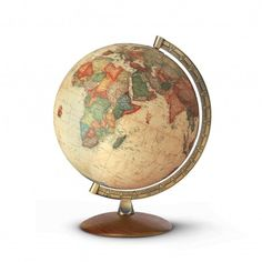 Globe terrestre à l'ancienne