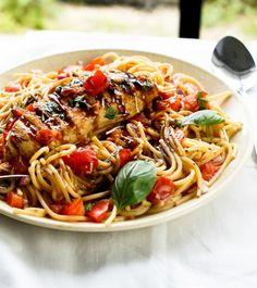 Chicken Bruschetta Pasta Salad - Cafe Delites
