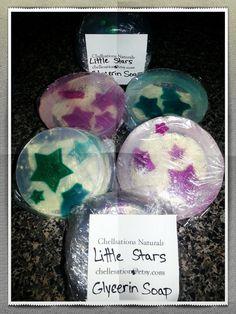 little stars 100 natural soap for kids vegan by Chellesations, $5.00