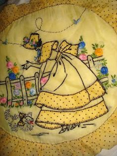 Vintage pillow cover. My Mom was absent a lot of my childhood but she would embroider special pillow cases for me to sleep on. Nice!