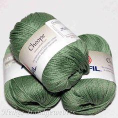 Cheope Wald von Adriafil - Heikes Handgewebtes edel feine 100 % ägyptische Baumwolle für höchste Ansprüche. noble fine 100% Egyptian cotton for high performance. 50g = 135 m LL