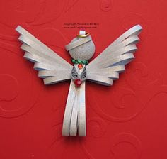 Free quilled angel pattern