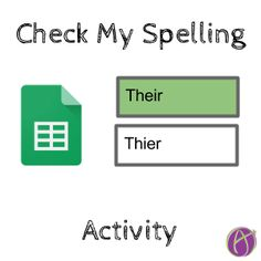 Check My Spelling Activity - Teacher Tech Spelling Activities, Writing Practice, Dyslexia, Vocabulary Words, Google Classroom, Templates, Technology, Teaching, Students
