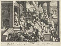 Suikerraffinaderij, Philips Galle, ca. 1598 - ca. 1593