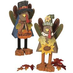 Gerson 2-pc. Turkey ''Welcome'' Sign Set