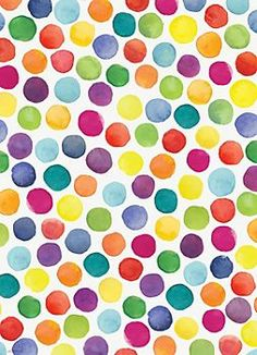 Watercolor Dots Wrapping Paper