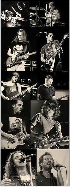Pearl Jam | then … now.  We're growing old together.  Their music means the world to me...