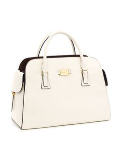 Michael Kors Ostrich-Embossed Gia Leather Satchel.