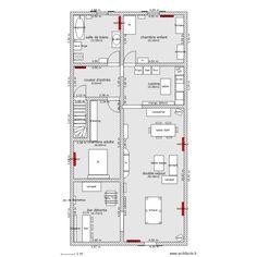 appartement au dessus magasin. Plan de 8 pièces et 130 m2