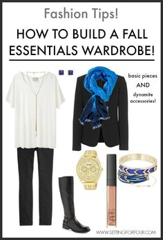 See my fall fashion tips! How to Build a Fall Fashion Essentials Wardrobe with timeless style!  www.settingforfour.com