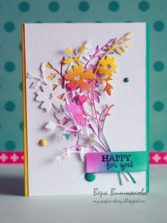 Featuring the Honeyblossom Sprig die SKU 769646, available at www.addictedtorubberstampscom  Card found on the My Paper Story blog.