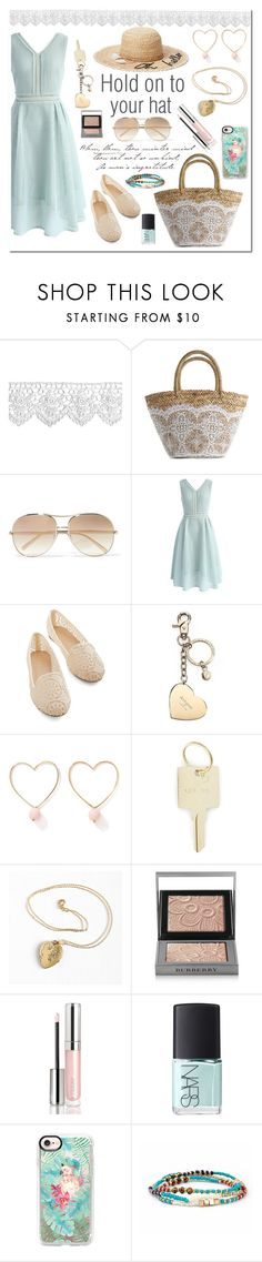 """""""Summer hat"""" by linmari ❤ liked on Polyvore featuring Flora Bella, Chloé, Chicwish, Aspinal of London, Ana Accessories, The Giving Keys, Burberry, By Terry, NARS Cosmetics and Casetify"""