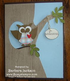 Stampin' Up Card  I have the owl stamp never thought about giving him wings