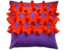 Orange and Purple Dart Cushion by Cushlab at Curated @Cushlab @curatedonline