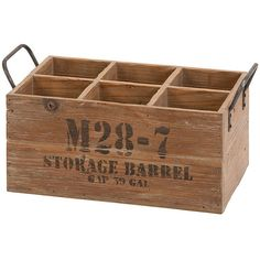 Wood Wine Crate ($60) ❤ liked on Polyvore featuring home, home decor, small item storage, nocolor, wood home decor, wooden home accessories and wooden home decor