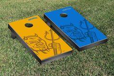 SUNY, Fredonia Blue Devils Watermark Logo Cornhole Board Set