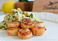 Protein Treats By Nicolette : Spinach & Pine Nut Quinoa with Seared Scallops