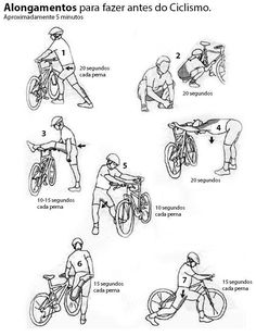 Pre-cycling stretches