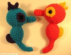 Amigurumi Crochet Seahorses - Free Pattern