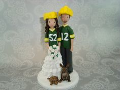Green Bay Wedding Cake Topper | deweddingjpg.com