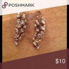 Gold/Rhinestone Statement Earrings Gold rhinestone statement earrings. Great condition! Charming Charlie Jewelry Earrings