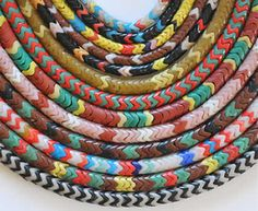 My favourite trade beads - snake beads in various colours
