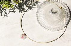 七夕情人節禮物/ 簡約感 / 法式極簡玻璃項圈項鍊 - 浪漫乾燥花世界 - Coco&Banana   Pinkoi