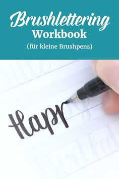 Brushlettering Workbook (kleine Brushpens) – Effektiv Handlettering lernen – Well come To My Web Site come Here Brom Lettering Brush, Hand Lettering Practice, Hand Lettering Tutorial, Hand Lettering Alphabet, Creative Lettering, Lettering Styles, Modern Calligraphy Tutorial, Hand Lettering For Beginners, Calligraphy For Beginners