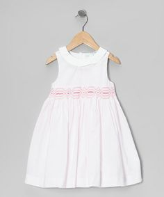 Look at this #zulilyfind! Light Pink Stripe Smocked Dress - Infant & Toddler #zulilyfinds