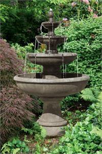 concrete water feature images | Four TIER PICASSO Concrete - Garden Water Feature Garden Water Feature