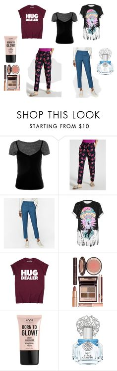"""""""a girl's gotta have things"""" by cassandra-beauchamp on Polyvore featuring Sans Souci, WithChic, Charlotte Tilbury, NYX and Vince Camuto"""