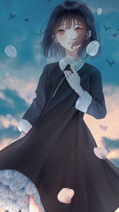 Anime Girl Cute, Anime Art Girl, Anime Girls, Anime Flower, Cute Profile Pictures, Anime Angel, Pretty Men, Anime Style, Boy Or Girl
