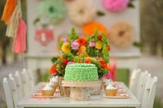 Floral Fox Birthday Party Ideas | Photo 1 of 23