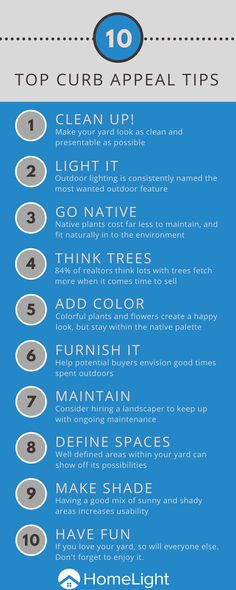 10 easy curb appeal ideas to make the most of your front yard. Home Selling Tips, Selling Your House, Sell House, House Sales, Landscaping Tips, The Ranch, House Front, Home Buying, Curb Appeal