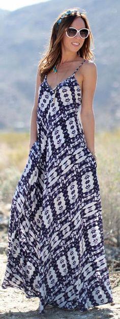 e03f7c540a0e Twelfth St. By Cynthia Vincent Inkblot Print Braided Strap Maxi Dress by  Sydne Style Robe