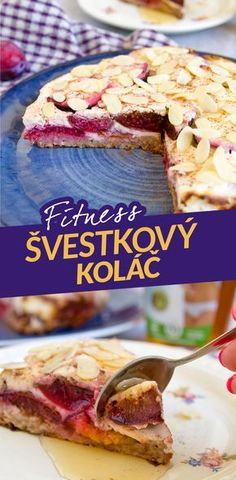 Fitness švestkový koláč z ovesné kaše / fit dietní zdravý top recept na hubnutí nejen pro fitness / Fitness plum pie from oatmeal / fit healthy recipe by Bajola Healthy Cake, Healthy Recipes, Healthy Food, Sugar Free, Deserts, Health Fitness, Menu, Yummy Food, Food And Drink