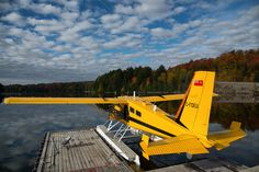 A de Havilland Beaver docked at Smoke Lake in Algonquin Park. Not just a Beaver, but a Turbo - aaaahh, the memories of flying in these aircraft from this same base in the and Bush Plane, Ontario Parks, Air Machine, Float Plane, Algonquin Park, Amphibians, Sun Lounger, Sea Planes, Aircraft