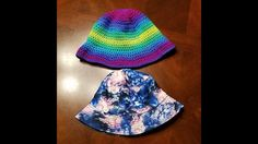 Also known as the session hat, fishermans hat or Irish country hat, the bucket hat was a popular high fashion item in the equally as hip today! Crochet Fall, All Free Crochet, Cute Crochet, Irish Crochet, Easy Crochet, Crochet Hat With Brim, Crocheted Hats, Toddler Sun Hat, Country Hats