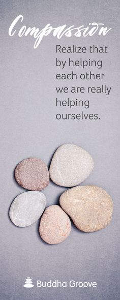 Compassion for others is compassion for self.