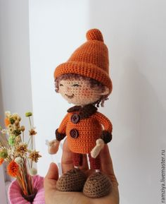 Купить Вася (Самый маленький гном) - авторская ручная работа, кукла интерьерная, веселый подарок