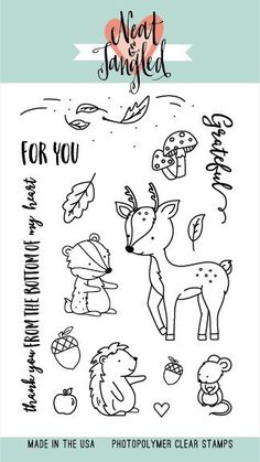 Neat and Tangled INTO THE WOODS Clear Stamp Set zoom image
