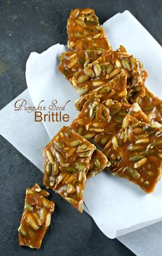 Authentic Suburban Gourmet: Pumpkin Seed Brittle I want to try to turn this into a healthier version, with no white sugar.