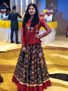 Patola skirt with a handwork peplum top Party Wear Indian Dresses, Dress Indian Style, Indian Fashion Dresses, Indian Designer Outfits, Designer Dresses, Lehenga Saree Design, Lehenga Designs, Stylish Dresses For Girls, Stylish Dress Designs